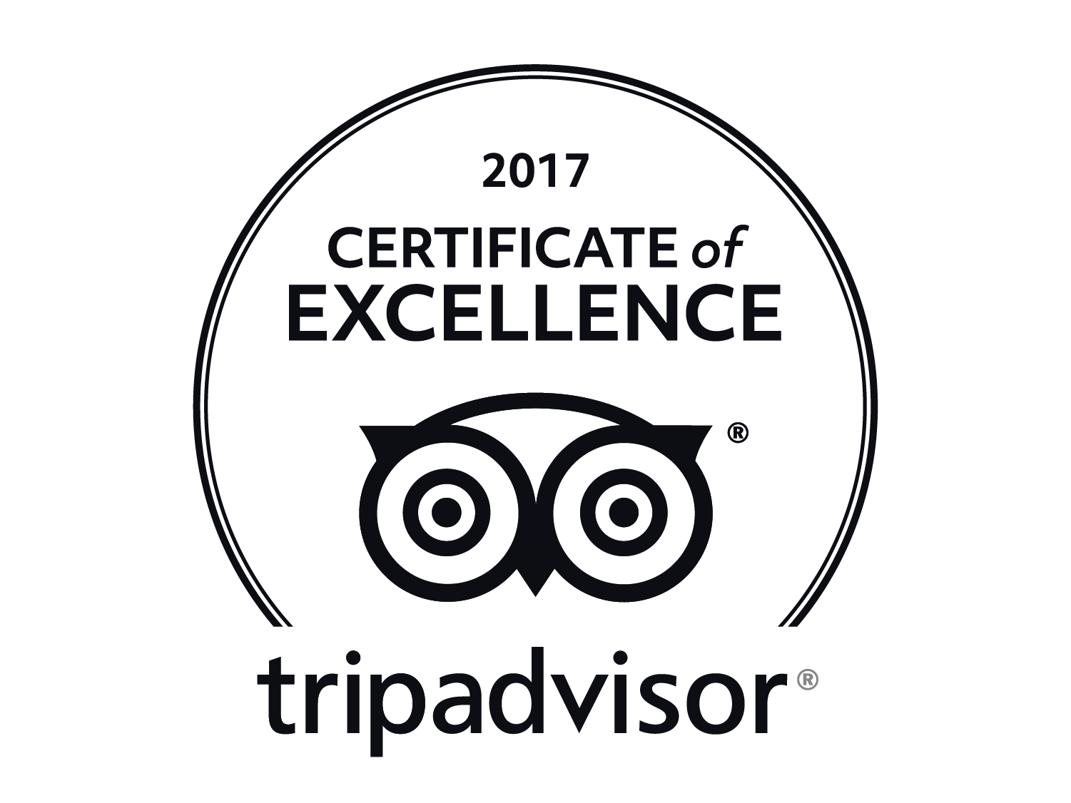 TRIP ADVISOR CERTIFICATE OF EXCELLENCE...